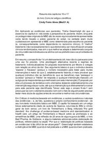 Resumo dos capítulos 16 e 17 - Livro Como Ler Artigos Cientificos