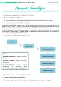 Anamnese Neurológica