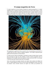 O campo magnético da Terra