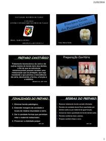 AULA 3  Princípios Gerais dos Preparos Cavitários Dentística I   completo