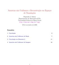 Amostras não Uniformes e Reconstrução em Espaços de Translações