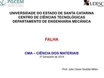 Apostila de Falha - UDESC - Prof. Júlio G. Milan