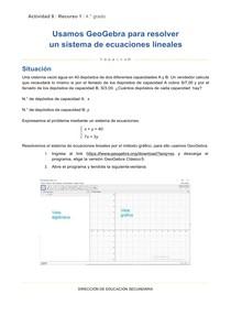 Act08-Uso de Geogebra -secundaria4to secundaria