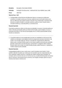 Avaliação Final (Discursiva) - Individual FLEX - Educação e Diversidade (EDU02)