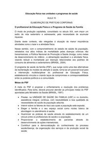 AULA 10 Educação física nas unidades e programas de saúdE