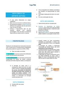 Gota úrica - Artrite gotosa - Fisiopatologia