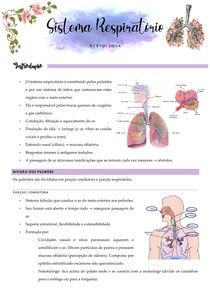 Histologia do Sistema Respiratório - Resumo