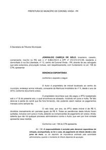 Modelo De Denúncia Espontânea Direito Administrativo Direi