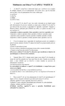 Multimeios em Educação (CAPES) PARTE II