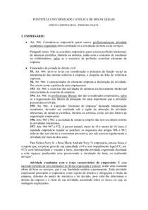 RESUMO DIREITO EMPRESARIAL I - PRIMEIRA PARTE