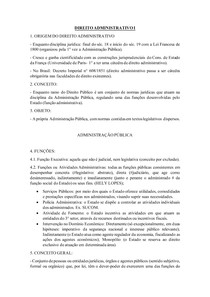 Apostila Direito Administrativo I