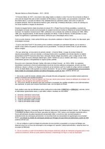 Revisão História do Direito Brasileiro – AV3