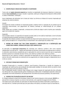 RESUMÃO REGIMES ADUANEIROS ESP PARTE 2