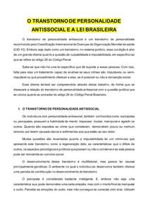 Psicopatia e Lei Brasileira