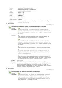 Computação Grafica Questionario unidade II