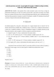 Lista UA 7_Conservação da Energia e Trabalho de força variável