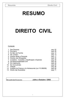 civil-civil Direito Civil