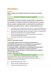 Avaliações ESAB Psicologia Aplicada a ADM