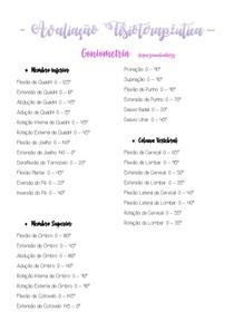 Goniometria - Resumo