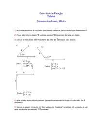 Física - Ensino Médio - Exercícios sobre vetores (com gabarito)