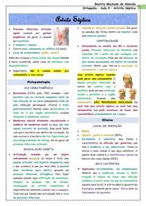 Ortopedia - Aula 9 - Artrite séptica