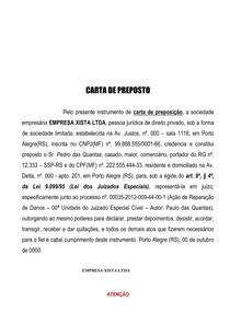 Carta De Preposto Juizado Especial Prática Simulada I Cível