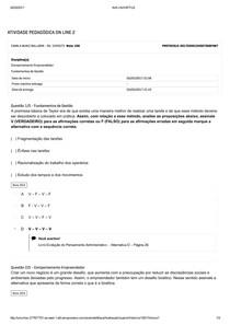 APOL 2 ATIVIDADE PEDAGOGICA ON LINE- COMPORTAMENTO DO EMPREENDEDOR / FUNDAMENTOS DE GESTÃO