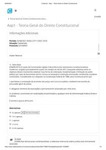 Colaborar - Aap1 - Teoria Geral do Direito Constitucional