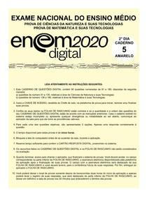 ENEM 2020 - 2º Dia - Caderno 5 Amarelo Aplicação digital