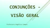 Conjunções - visão geral