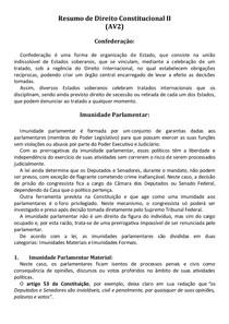 Resumo de Direito Constitucional II (AV2)