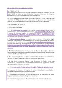 Lei 8142 de 1990 partes principais grifadas