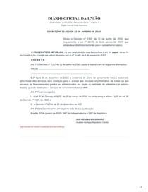 DECRETO Nº 10 203 - diretrizes nacionais para o saneamento básico