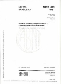 NORMA ABNT NBR 9781 PISOS