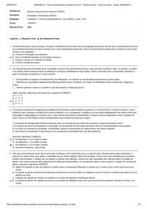 UNIASSELVI - Educação e Diversidade - Avaliação II