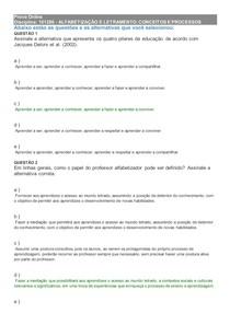 1-Prova Online ALFABETIZAÇÃO E LETRAMENTO - CONCEITOS E PROCESSOS