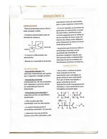 BIOQUÍMICA - aminoácidos, proteínas e enzimas a