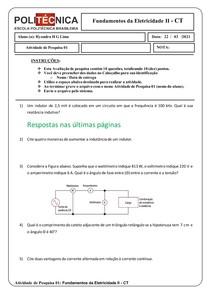 Atividade de pesquisa 01 - Fundamentos da Eletricidade II