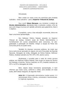 Aula 01   Organização Administrativa   Exercícios