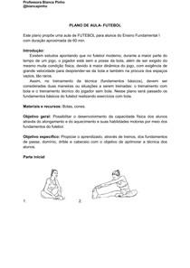 PLANO DE AULA- FUNDAMENTOS DO FUTEBOL