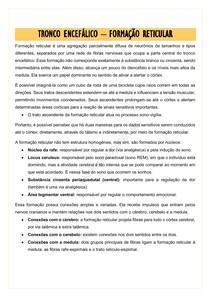 TRONCO ENCEFÁLICO - FORMAÇÃO RETICULAR