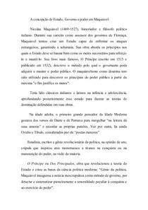 As Principais Idéias de Maquiavel