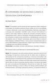 Sociologia clássica à contemporânea
