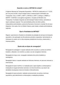 Agência Nacional Transportes Aquaviários - ANTAQ