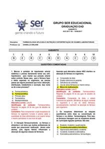 2017.1B AV2   FARMACOLOGIA APLICADA À NUTRIÇÃO E INTERPRETAÇÃO DE EXAMES LABORATORIAIS
