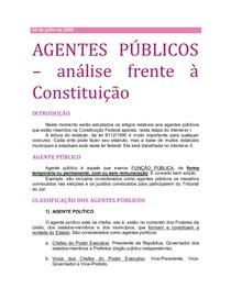 10. AGENTES PÚBLICOS (análise frente à Constituição)