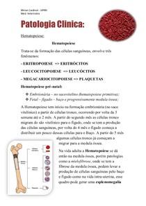 Patologia Clínica - Hematopoiese #1