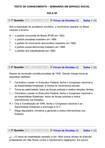 TESTE DE CONHECIMENTO AULAS 06 A 10 Seminário em SS