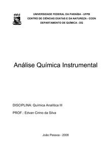 Apostila de Análise Instrumental