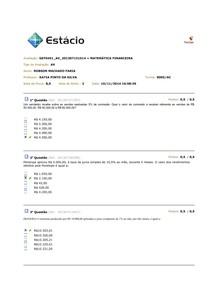 AV - EAD - MATEMATICA FINANCEIRA - Nov/2014